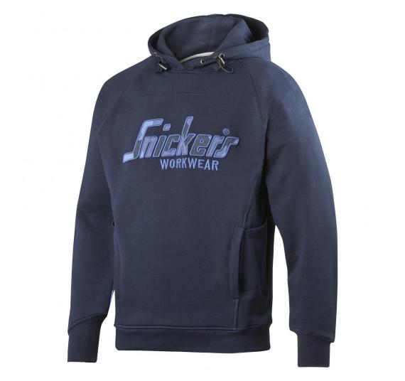 Snickers Workwear FlexiWork Camo Kapuzensweatshirt, 2824, Farbe Navy/Navy Camo, Größe M