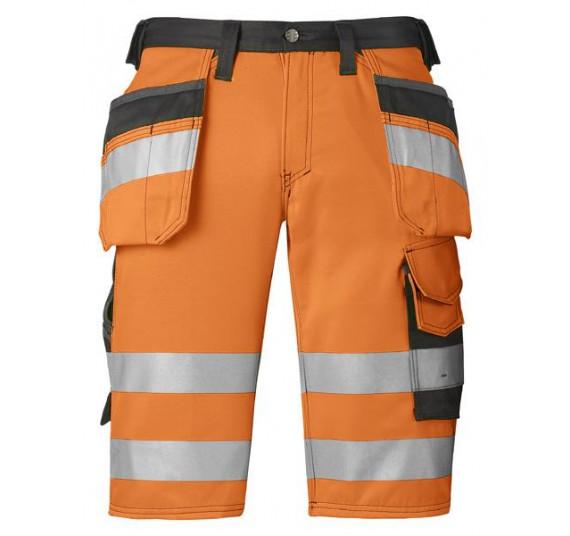 Snickers Workwear High-Vis Arbeitsshorts mit Holstertaschen, Klasse 1, 3033