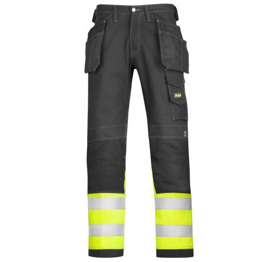 Snickers Workwear High-Vis Baumwoll-Arbeitshose mit HP, Klasse 1, 3235