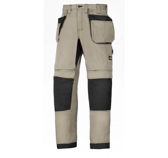 Snickers Workwear LiteWork, 37.5 Arbeitshose mit Holstertaschen, 6207, Farbe Khaki/Black, Größe 50