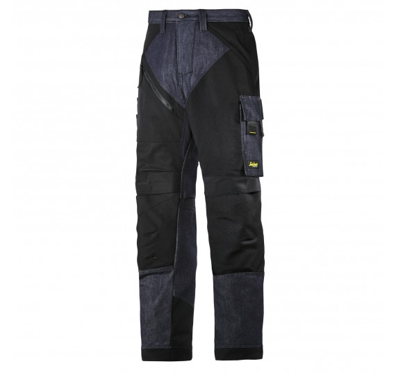 Snickers Workwear RuffWork Denim Arbeitshose, 6305, Farbe Denim/Black, Größe 48