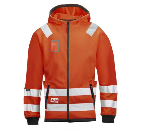 Snickers Workwear High-Vis Mikro Fleece Arbeitsjacke, Klasse 3, 8043