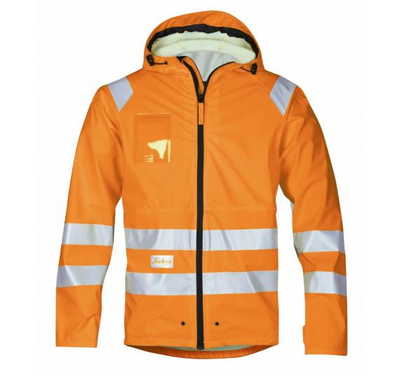 Snickers Workwear High-Vis PU Regen-Arbeitsjacke, Klasse 3, 8233