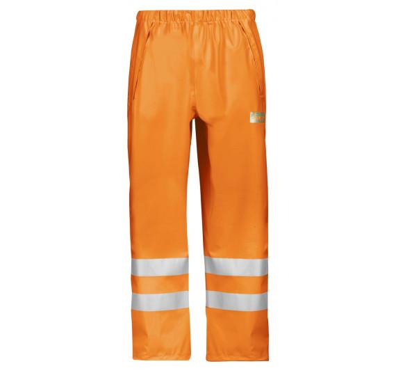 Snickers Workwear High-Vis PU Arbeits-Regenhose, Klasse 2, 8243